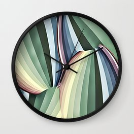 Art Deco Muted Circles Of Color Wall Clock