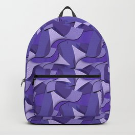 Ultra Violet Abstract Waves Backpack