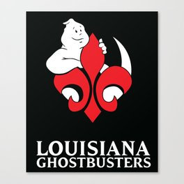 Louisiana Ghostbusters Logo with Black Background Canvas Print