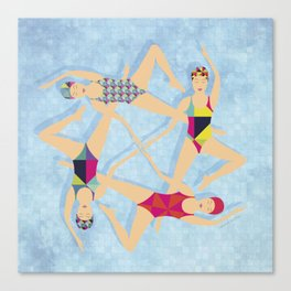Syncronized Swimming 2 Canvas Print