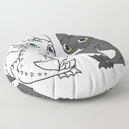 Night Fury & Light Fury Floor Pillow