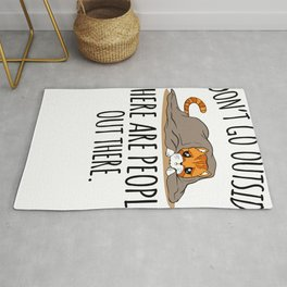 Sarcasm Cat Hate People Outside gift Rug