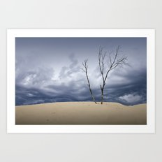 Wind Swept Clouds over the Dunes Art Print