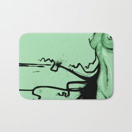 Aqua Dark green Bath Mat