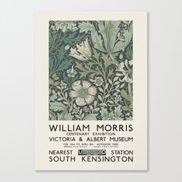 William Morris - Exhibition poster for The Victoria and Albert Museum, London, 1934 Canvas Print