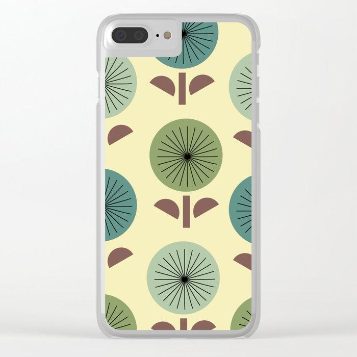 Atomic Dandelions Clear iPhone Case
