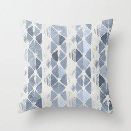 Simply Braided Chevron Indigo Blue on Lunar Gray Throw Pillow