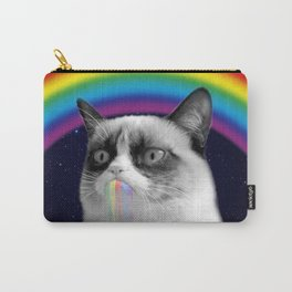 cat all over galaxy rainbow puke Space Crazy Cats Carry-All Pouch