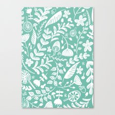 Forest Flora Green Canvas Print