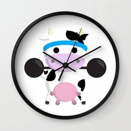 TeeTee - The Aerobic Cow #04 Wall Clock
