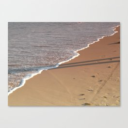 Rose-tinted Water Line Canvas Print