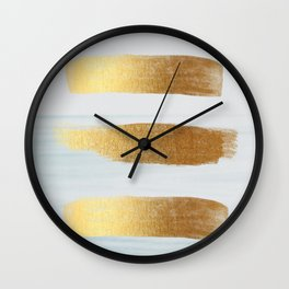 Golden sea Wall Clock