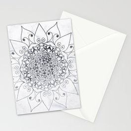 ELEGANT MANDALA IN GRAY Stationery Cards