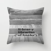 library Throw Pillows featuring Library by KimberosePhotography