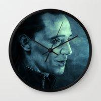 loki Wall Clocks featuring Loki by Oput Studios