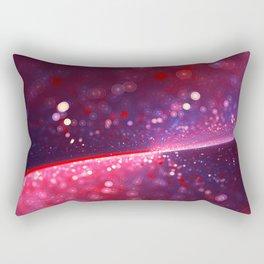 Cowberry Glitter Wave Rectangular Pillow