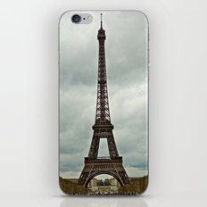 Eiffel Tower on a Cloudy Day iPhone & iPod Skin