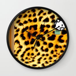 CHEETAH by JC LOGAN 4 Simply Blessed Wall Clock