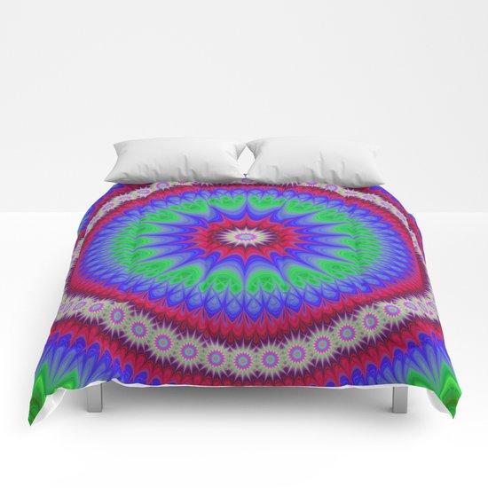 Happy mandala Comforters