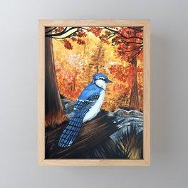 Blue Jay Life Framed Mini Art Print