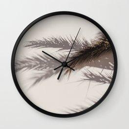 Palm Leafs Shadow Wall Wall Clock