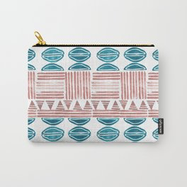 Blush and Blue Carry-All Pouch