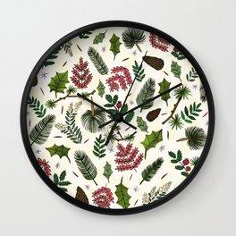 Winter Foliage Wall Clock