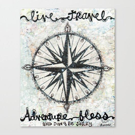 Live Travel Adventure Bless Canvas Print