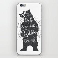 Positive Bear iPhone & iPod Skin