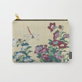 Hokusai (1760-1849) Bell-flowers and Dragonfly Carry-All Pouch