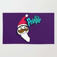 kris tate Area & Throw Rugs featuring Kris Pringle by Chelsea Herrick