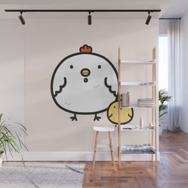 Cute chick and chicken Wall Mural