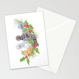 Silkie Chicken Huddle - Peck the halls!  Stationery Cards