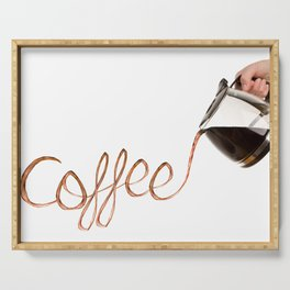 Pouring Coffee Serving Tray