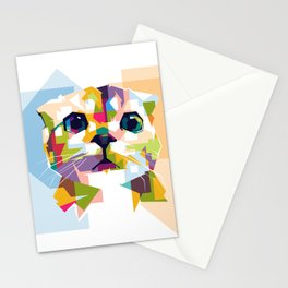 Little colorful cat Stationery Cards