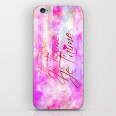 JE T'AIME French Typography Font I Love You Romantic Fine Art Pastel Pink Colorful Abstract Painting iPhone & iPod Skin