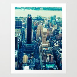 NEW YORK//COLOUR *2 Art Print