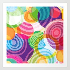 Circle-licious Sweetie Art Print