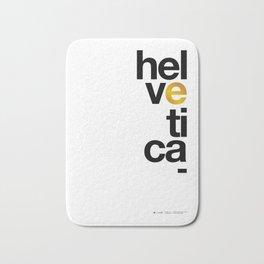 Helvetica Typoster #1 Bath Mat