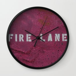 Fire Lane Wall Clock