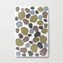 Several abstract terrazo shapes in many colors perfect for garment and accesories Metal Print