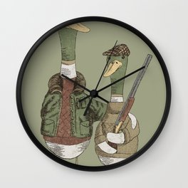 Hunting Ducks Wall Clock