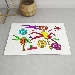 rock n roll Classic T-Shirt  Rug