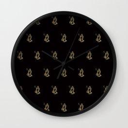 6 God - Black Wall Clock