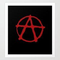 anarchy Art Prints featuring Anarchy by brett66