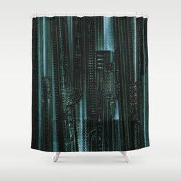 HR Giger Textures Shower Curtain
