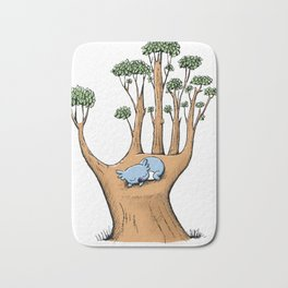 Cute Koala in a Tree Hand Bath Mat