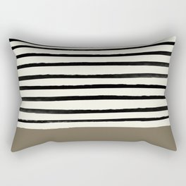 Cappuccino x Stripes Rectangular Pillow