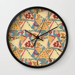 Pizza Pattern No. 1 Wall Clock