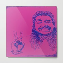 Happy Posty Metal Print